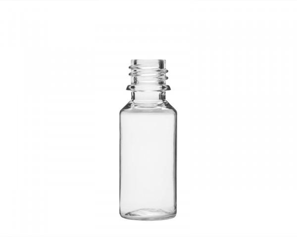20 ml PET-Flasche aus formstabilem Kunststoff mit 18 mm Gewinde