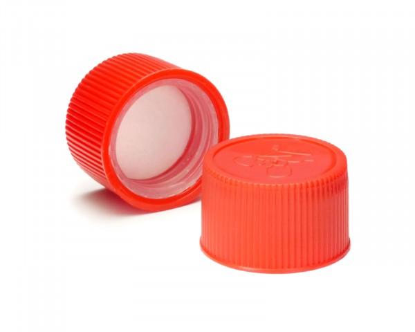 Drück & Dreh Schraubverschluss mit Kindersicherung rot mit Schaumeinlage, DIN 25