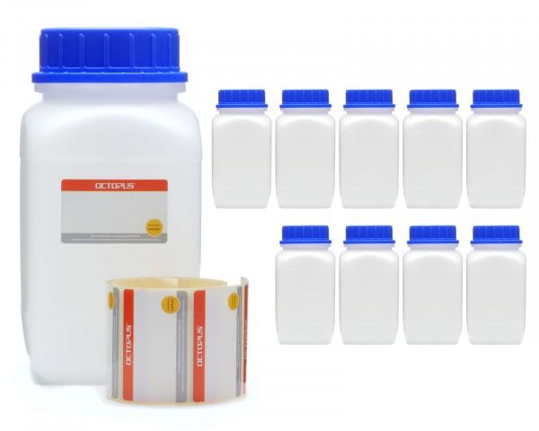 10x 1500 ml Weithals-Flaschen mit Schraubverschluß, Chemiekalienflasche, Laborflasche