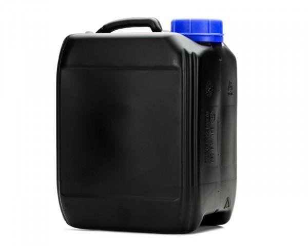5L Kanister aus schwarzem HDPE mit blauem Verschluss, Gewinde 51 mm