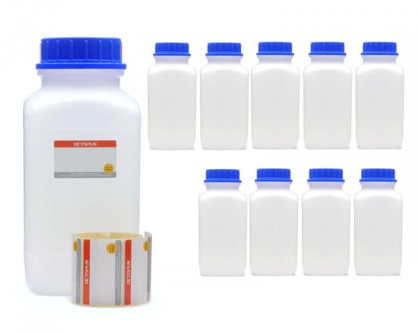 10x 2500 ml Weithals-Flaschen mit Schraubverschluß, Chemiekalienflasche, Laborflasche