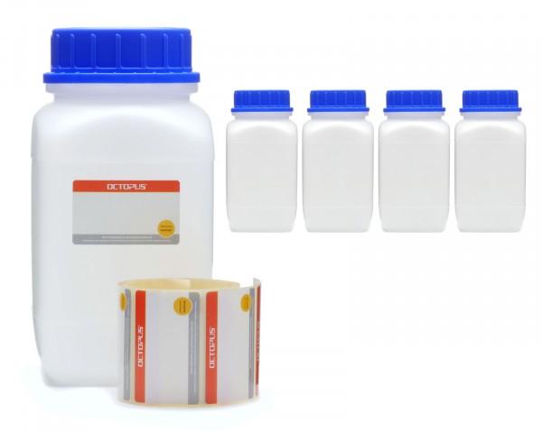 5x 1500 ml Weithals-Flaschen mit Schraubverschluß, Chemiekalienflasche, Laborflasche
