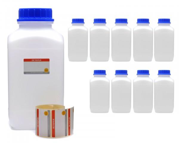 10x 4000 ml Weithals-Flaschen XXL mit Schraubverschluß, Chemiekalienflasche, Laborflasche