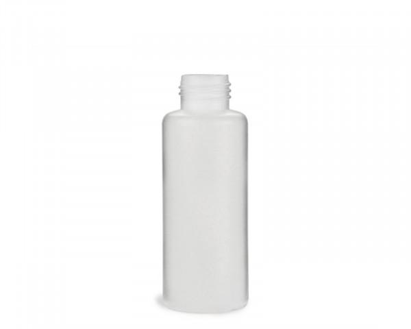 100 ml Rundflasche mit 25 mm Gewinde aus HDPE