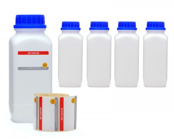 5x 1000 ml Weithals-Flaschen mit Schraubverschluß, Chemiekalienflasche, Laborflasche