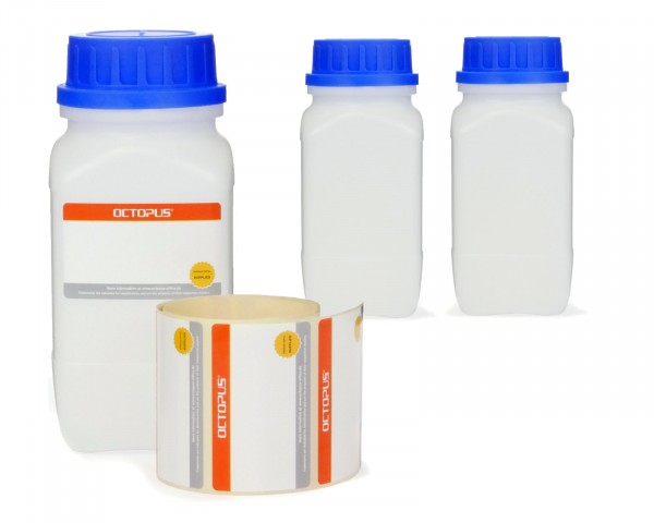 3x 750 ml Weithals-Flaschen mit Schraubverschluß, Chemiekalienflasche, Laborflasche