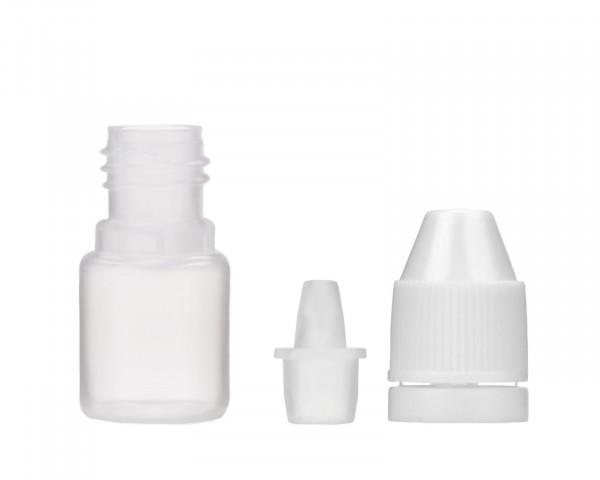 Tropfflasche 3 ml aus LDPE, G13, Plastikflasche mit Tropfverschluß