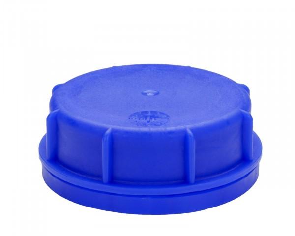 Kanisterverschluss für 51 mm Gewinde, blau mit PE-Schaumringdichtung und untenliegendem Originalität