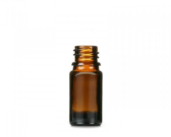 5 ml Braunglasflasche mit 18 mm Gewinde, Tropferflasche, Tropfflasche, Apothekerfläschchen