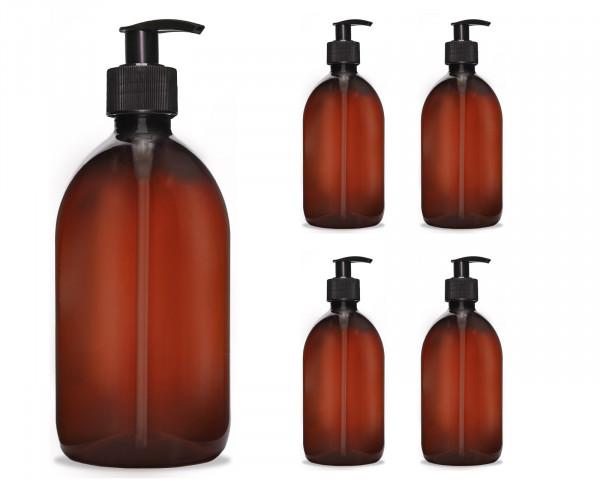 500 ml Seifenspender Cremespender nachfüllbar, Pumpspender f. Desinfektion, Lotions, Flüssigseife