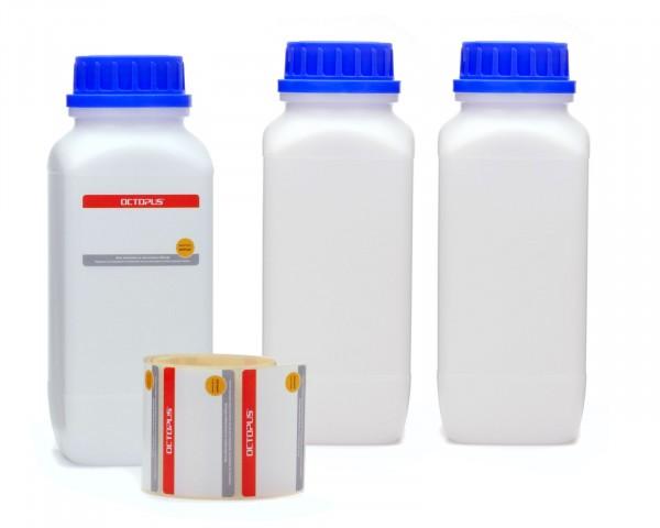 3x 1000 ml Weithals-Flaschen mit Schraubverschluß, Chemiekalienflasche, Laborflasche