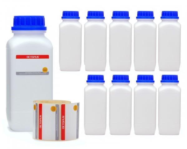 10x 1000 ml Weithals-Flaschen mit Schraubverschluß, Chemiekalienflasche, Laborflasche