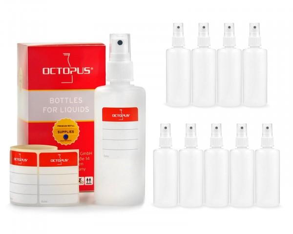 10 x 100 ml Sprühflaschen aus HDPE mit Fingerzerstäuber
