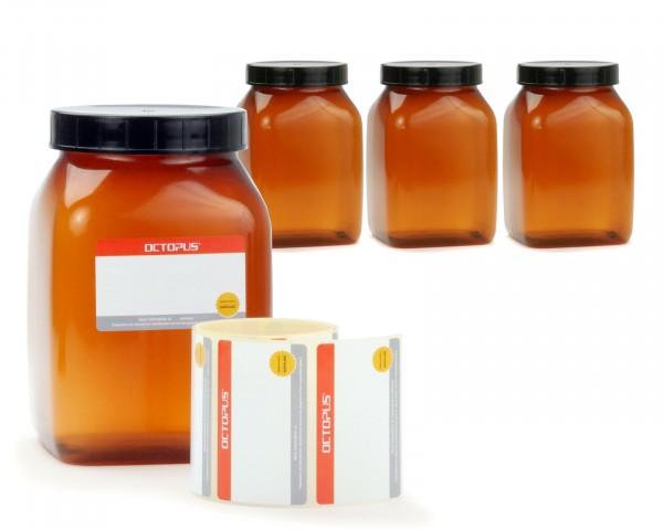 4x 1000 ml Plastik-Becher mit Deckel, Plastikdose, Weithals-Becher mit großer Öffnung und Schraubver
