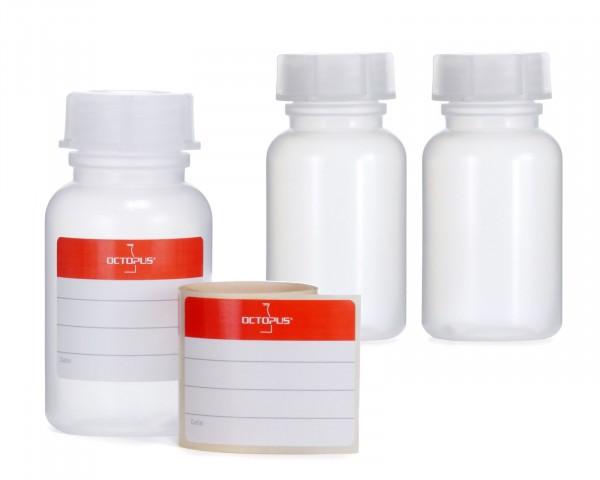 3x 100 ml Weithalsflasche mit Schraubverschluß, Chemiekalienflasche, Laborflasche