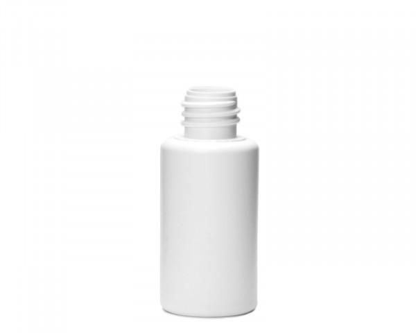 30 ml weiße Plastikflasche aus HDPE mit 18 mm Gewinde