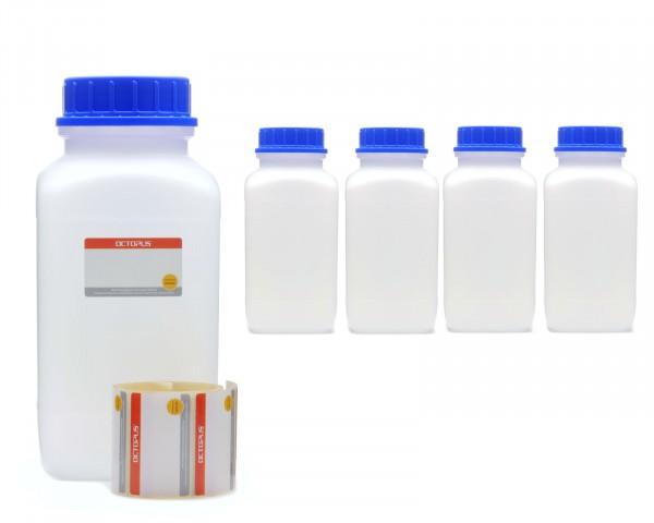 5x 2500 ml Weithals-Flaschen mit Schraubverschluß, Chemiekalienflasche, Laborflasche