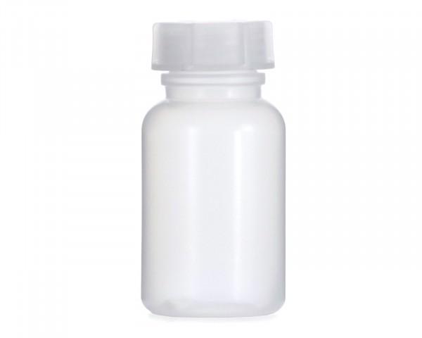 100 ml Weithalsflasche mit Schraubverschluß, Chemiekalienflasche, Laborflasche