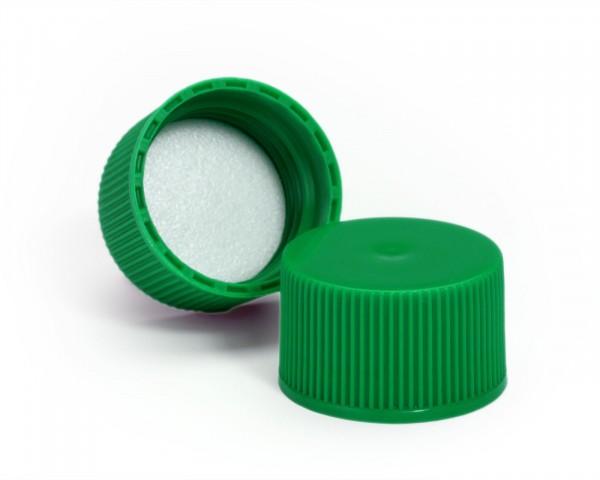 Schraubverschluss für Plastikflaschen grün mit Schaumstoffeinlage
