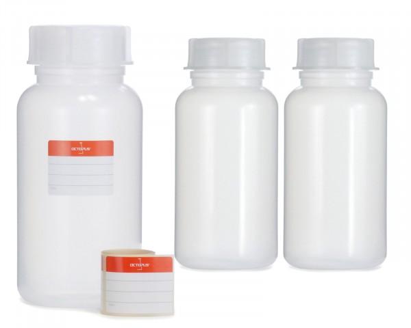 3x 1000 ml Weithalsflasche mit Schraubverschluß, Chemiekalienflasche, Laborflasche