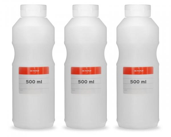 Quetschflaschen, Ketchupflaschen 500 ml mit weißem Ketchupdeckel und Beschriftungsetiketten