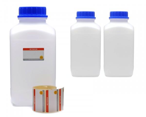 3x 4000 ml Weithals-Flaschen XXL mit Schraubverschluß, Chemiekalienflasche, Laborflasche