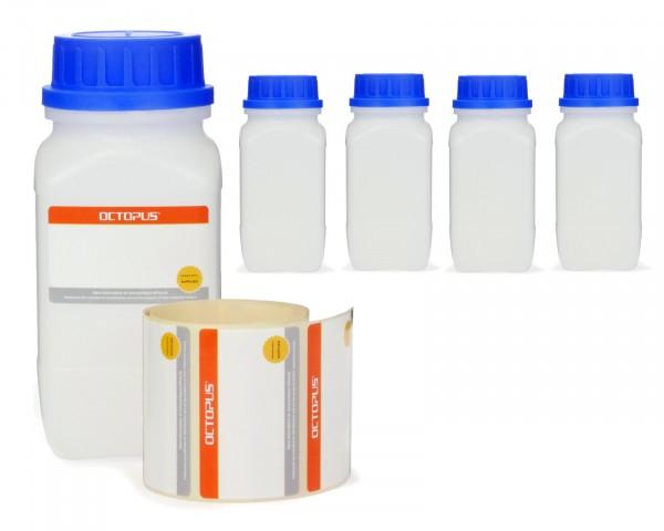 5x 750 ml Weithals-Flaschen mit Schraubverschluß, Chemiekalienflasche, Laborflasche