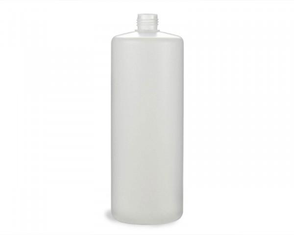 1000 ml Rundflasche mit 25 mm Gewinde aus HDPE