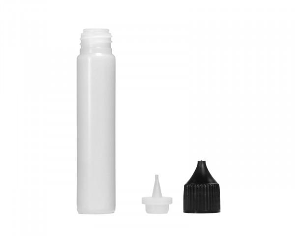 30 ml Plastikflasche mit Tropfeinsatz und schwarzem Deckel