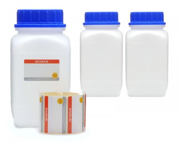 3x 1500 ml Weithals-Flaschen mit Schraubverschluß, Chemiekalienflasche, Laborflasche